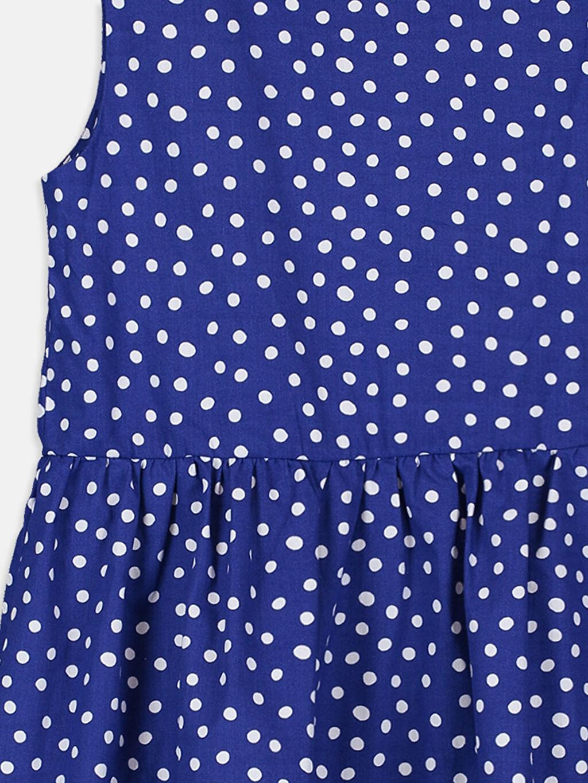 Kız Çocuk Kız Çocuk Sırtı Kalp Detaylı Puantiyeli Elbise