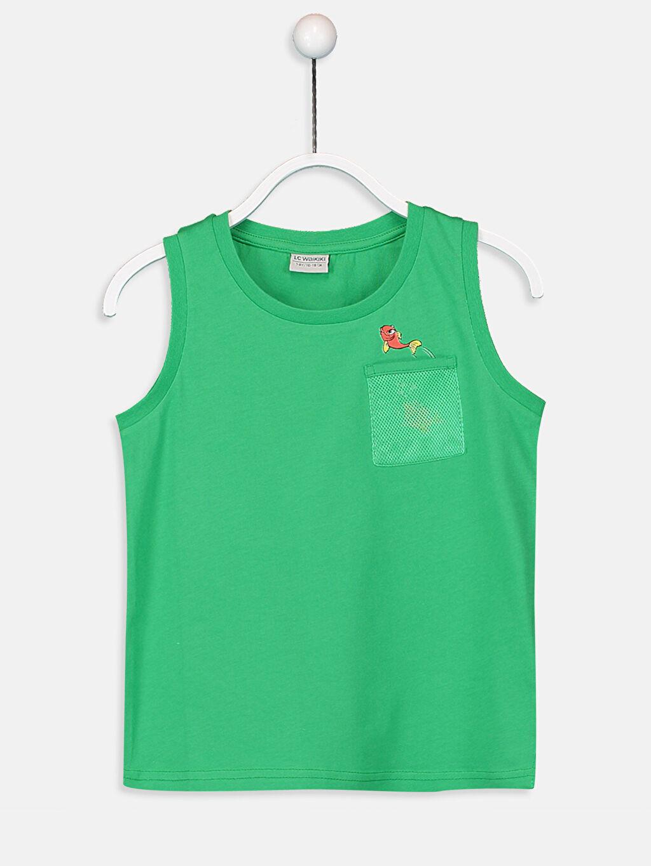 Yeşil Erkek Çocuk Pamuklu Basic Atlet 9S7989Z4 LC Waikiki