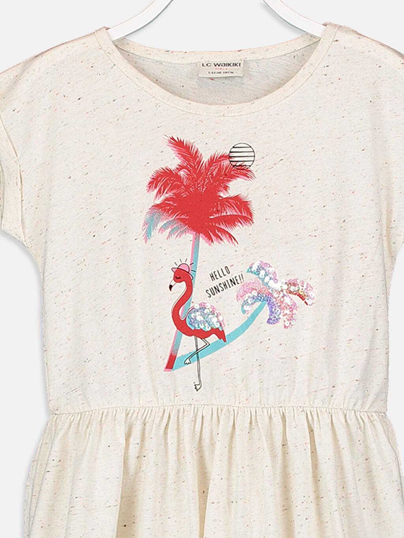 Kız Çocuk Kız Çocuk Baskılı Örme Elbise