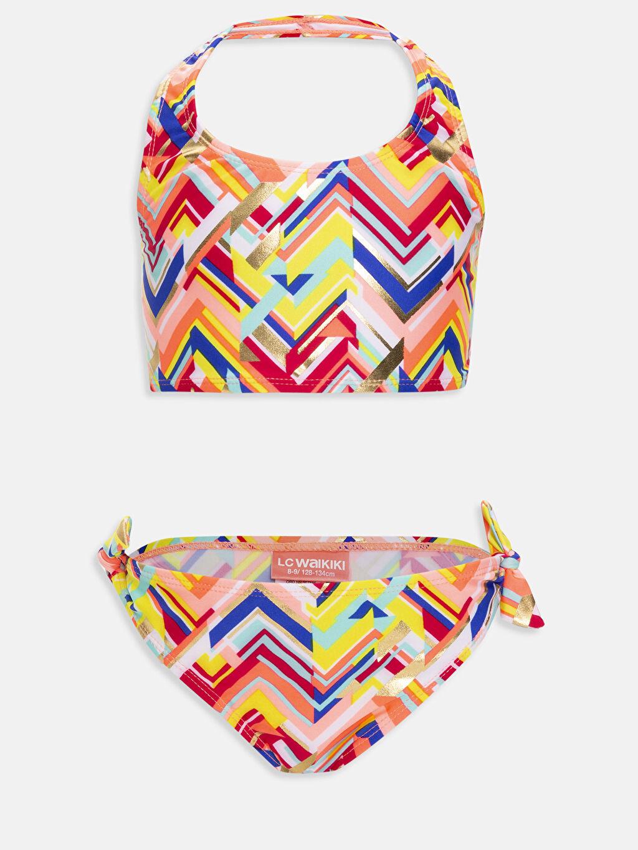 Fuşya Kız Çocuk Desenli Bikini 9S9589Z4 LC Waikiki