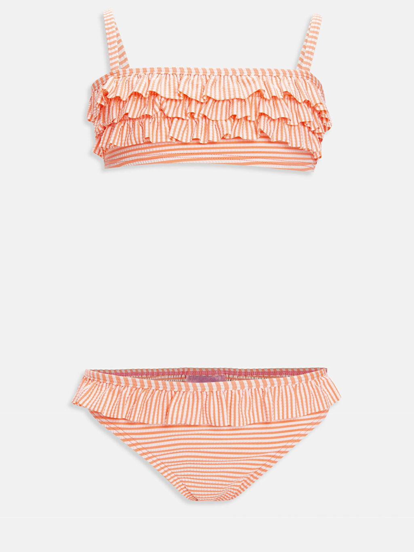 Çok Renkli Kız Çocuk Fırfırlı Bikini 9S9614Z4 LC Waikiki
