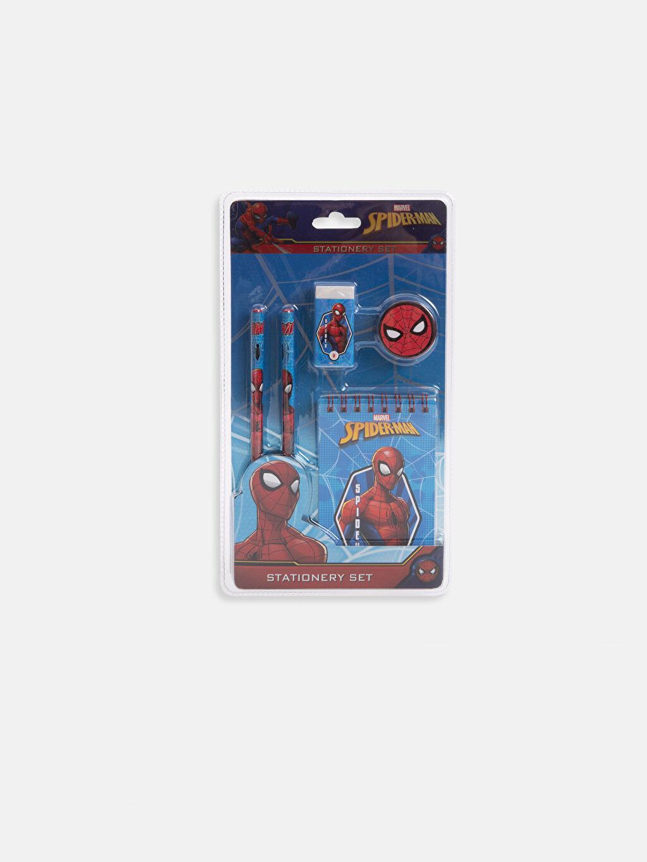 Çok Renkli Erkek Çocuk Spiderman Kırtasiye Seti 9S9708Z4 LC Waikiki