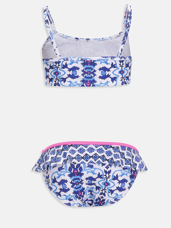 %85 Polyester %15 Elastan %100 Polyester  Kız Çocuk Desenli Bikini