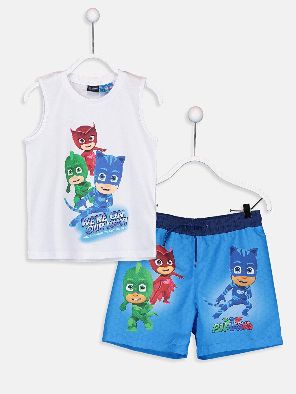Mavi Erkek Çocuk Pijamaskeliler Yüzme Takım 9S9972Z4 LC Waikiki