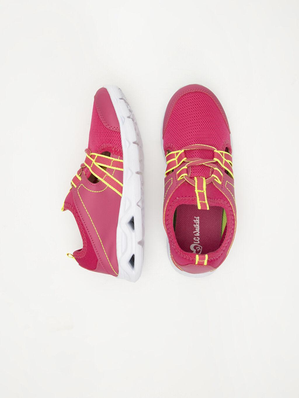 %0 Diğer malzeme (poliüretan) %0 Tekstil malzemeleri (%100 poliester)  Kız Çocuk Aktif Spor Ayakkabı