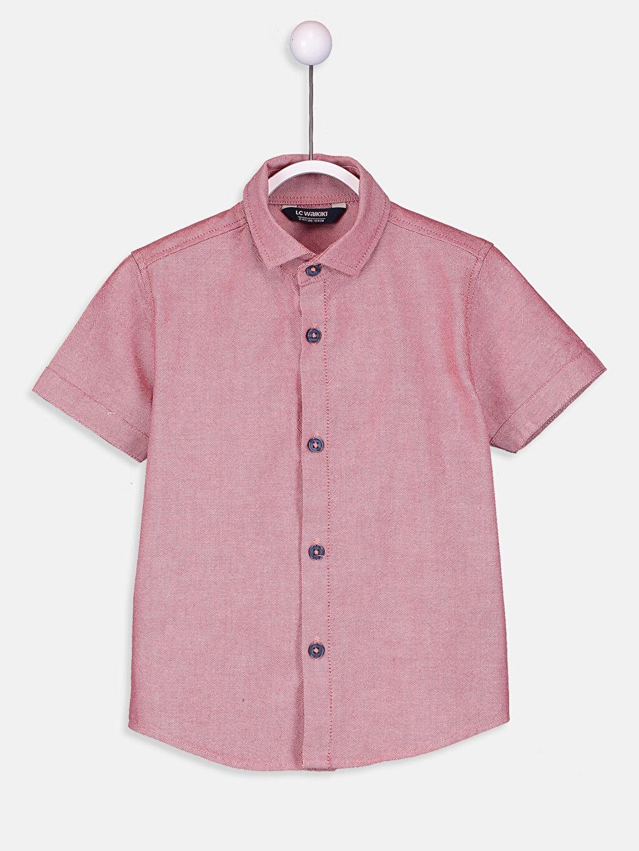 %48 Pamuk %52 Polyester %100 Pamuk Papyon Gömlek Standart Kısa Kol Oxford Düz Erkek Çocuk Oxford Gömlek ve Papyon