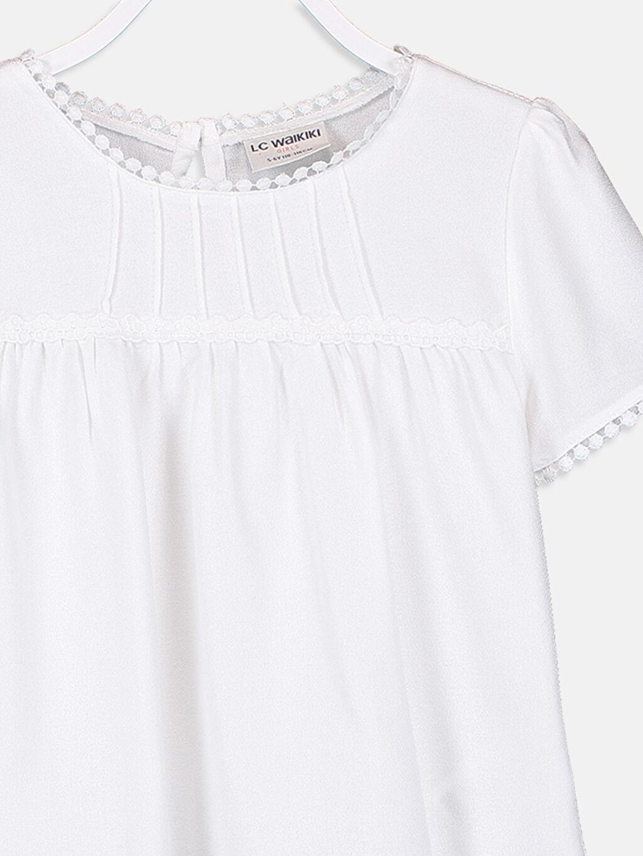 Kız Çocuk Kız Çocuk Dantel Detaylı Viskon Bluz