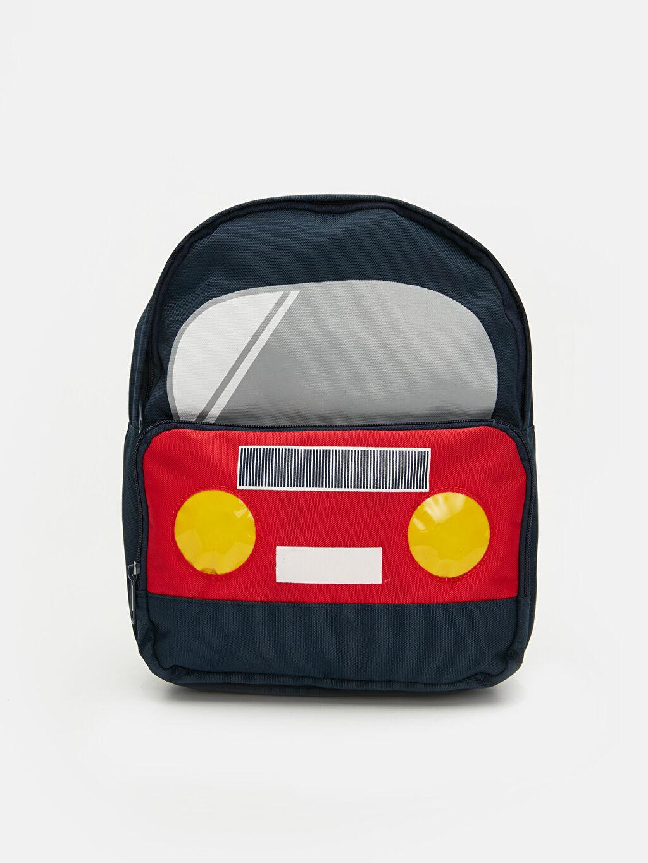 Lacivert Erkek Çocuk Araba Figürlü Sırt Çantası 9SG873Z4 LC Waikiki