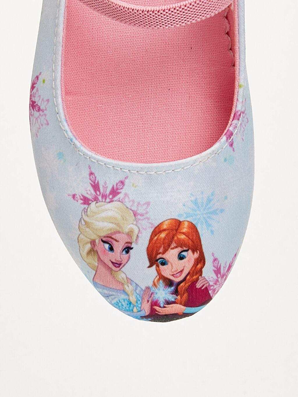 LC Waikiki Mavi Kız Çocuk Frozen Babet Ayakkabı