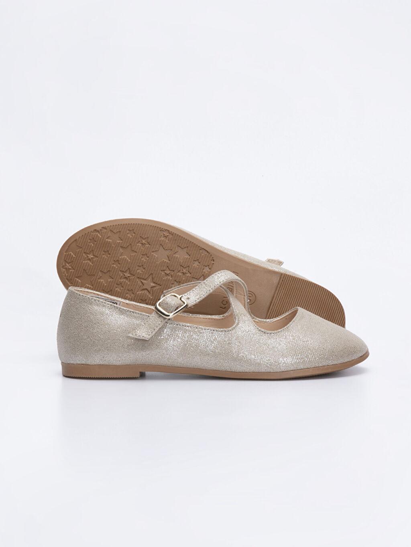 Kız Çocuk Kız Çocuk Çapraz Bantlı Babet Ayakkabı