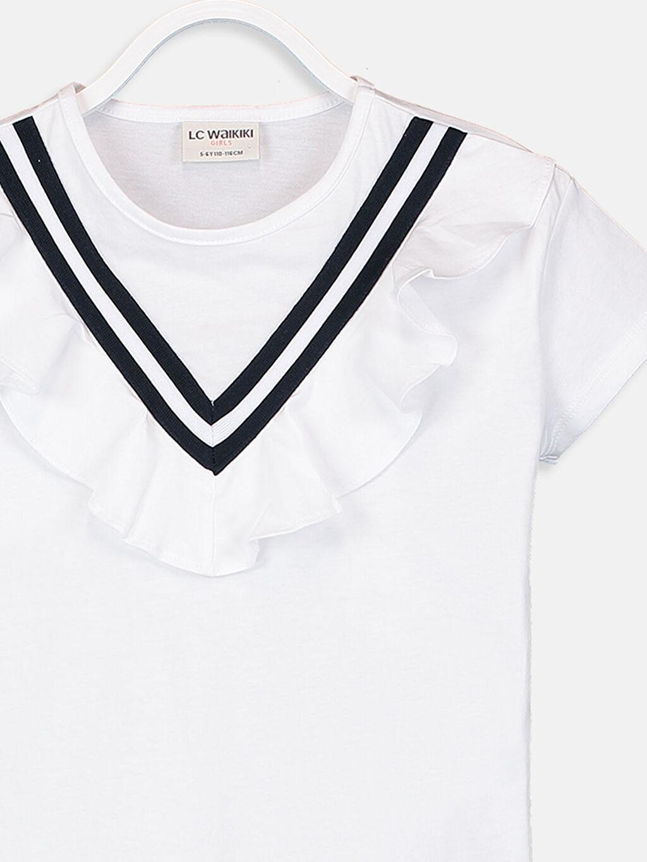 Kız Çocuk Kız Çocuk Fırfırlı Pamuklu Tişört