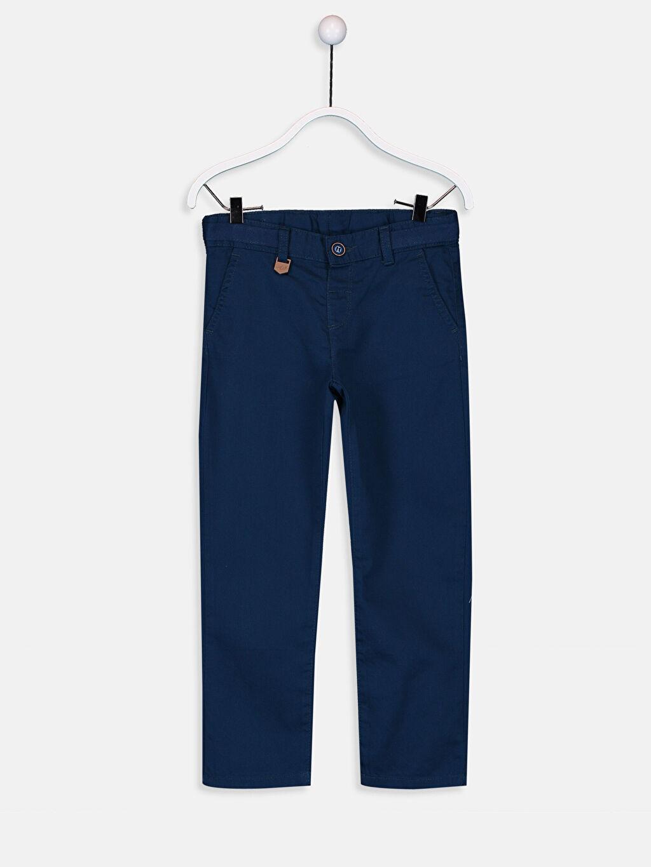 Lacivert Erkek Çocuk Chino Pantolon 9SI841Z4 LC Waikiki