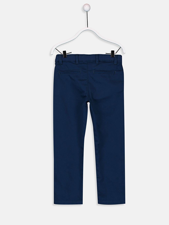 %100 Pamuk Normal Bel Astarsız Dar Pantolon Aksesuarsız Düz Gabardin Erkek Çocuk Chino Pantolon