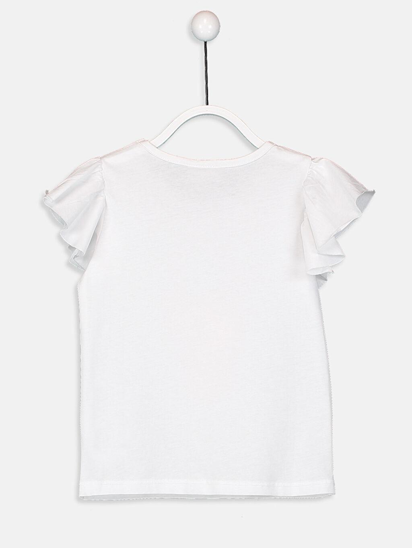 Kız Çocuk Kız Çocuk Pul İşlemeli Pamuklu Tişört
