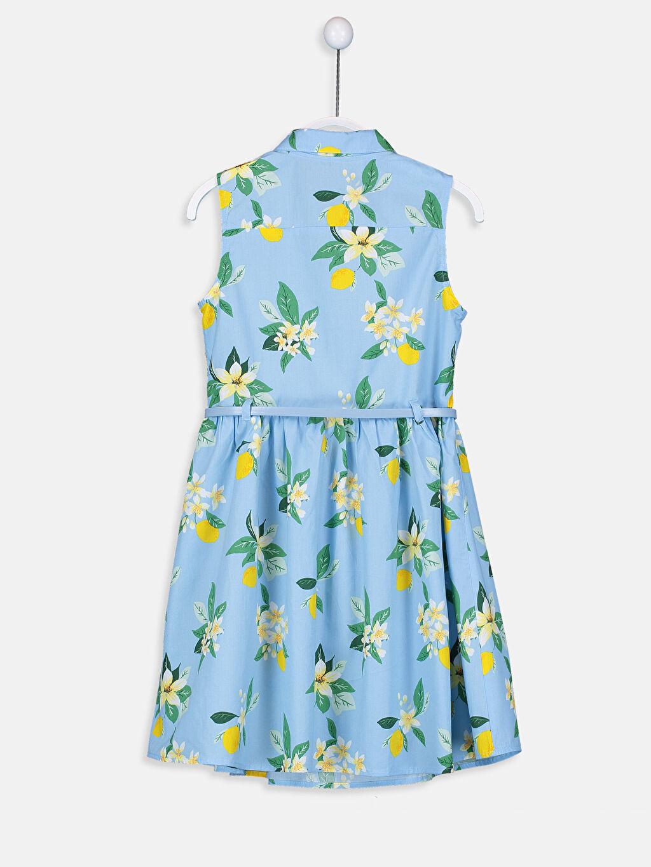 Kız Çocuk Kız Çocuk Çiçekli Elbise ve Kemer