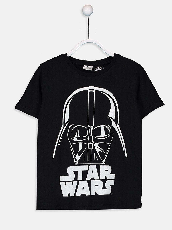 Siyah Erkek Çocuk Star Wars Pamuklu Tişört 9SK325Z4 LC Waikiki