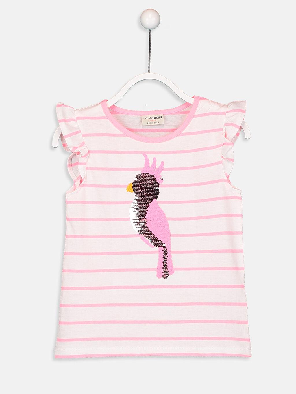 LC Waikiki Beyaz Kız Çocuk Pamuklu Tişört ve Şort