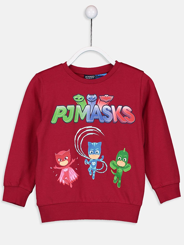 Kırmızı Erkek Çocuk Pijamaskeliler Pamuklu Tişört 9SN685Z4 LC Waikiki