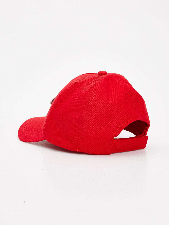 Kırmızı Erkek Çocuk Pamuklu Şapka