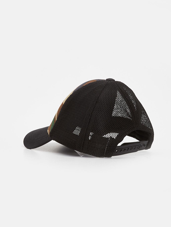 Erkek Çocuk Erkek Çocuk Kamuflaj Desenli Şapka