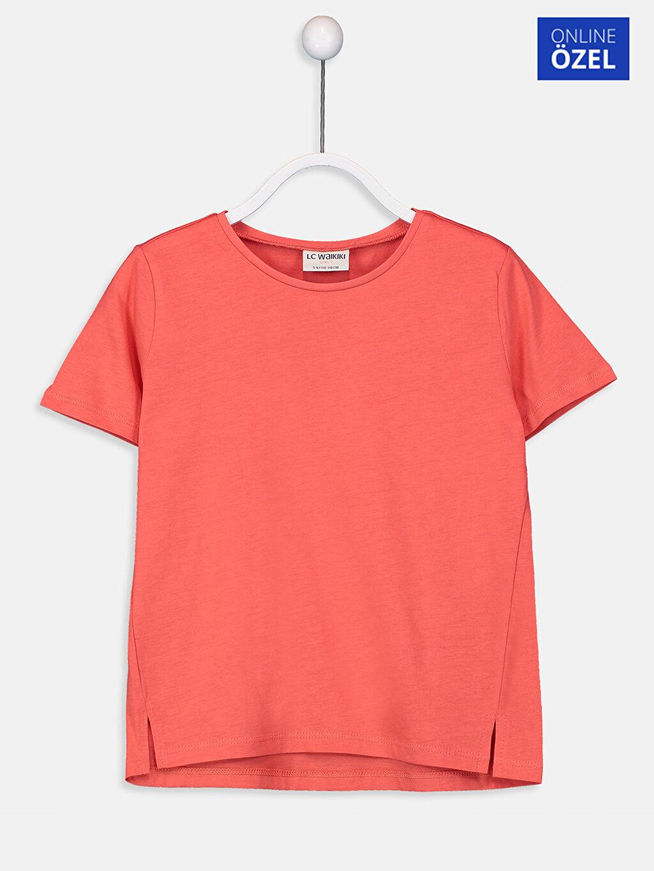 Mercan Kız Çocuk Pamuklu Basic Tişört 9SS324Z4 LC Waikiki
