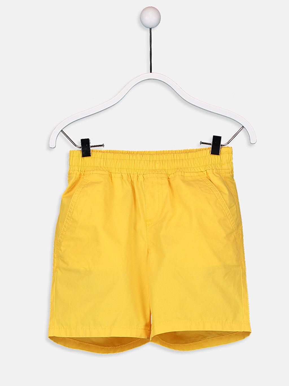 Sarı Erkek Çocuk Pamuklu Şort 9SS989Z4 LC Waikiki
