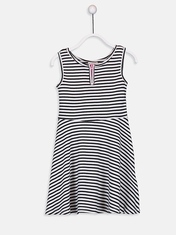 Siyah Kız Çocuk Pamuklu Elbise 9ST492Z4 LC Waikiki