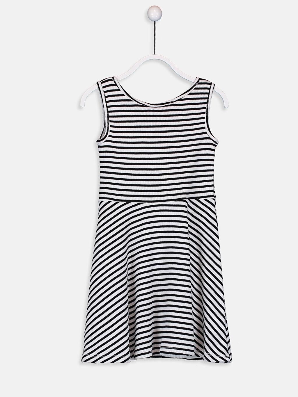 %97 Pamuk %3 Elastan Mini Baskılı Kız Çocuk Pamuklu Elbise