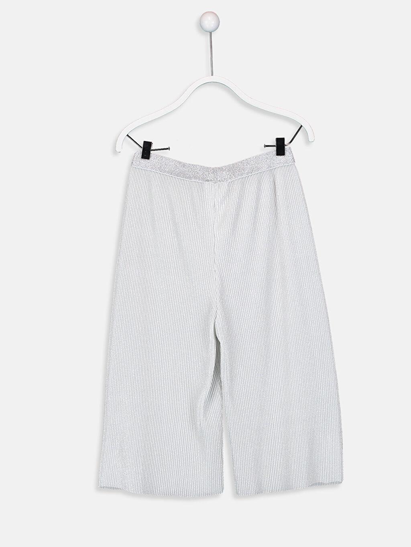 %100 Polyester Normal Bel Eşofman Altı Düz Standart Bilek Boy Süprem Kız Çocuk Basic Capri
