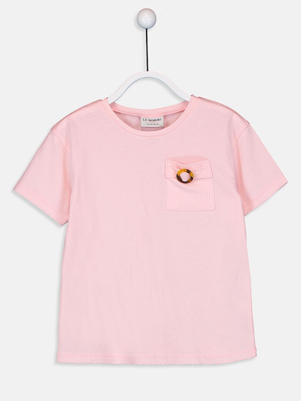 Pembe Kız Çocuk Pamuklu Basic Tişört 9SU421Z4 LC Waikiki