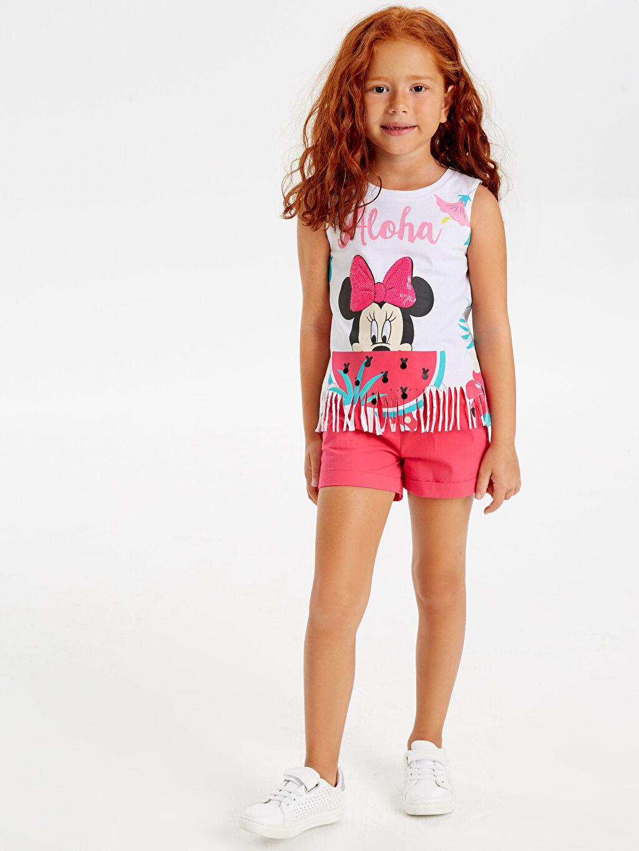Beyaz Kız Çocuk Minnie Mouse Pamuklu Atlet 9SY787Z4 LC Waikiki