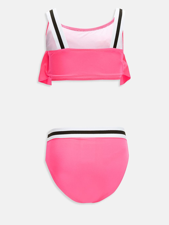 %81 Polyester %19 Elastan %90 Polyester %10 Elastan Bikini Düz Bikini Aksesuarsız Kız Çocuk Volanlı Bikini