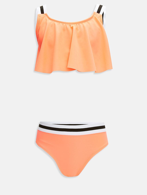 Mercan Kız Çocuk Volanlı Bikini 9SA826Z4 LC Waikiki