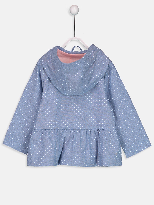 %100 Pamuk %100 Pamuk Mont Penye Astar Baskılı Orta Kalınlık Kapüşonlu Uzun Kız Bebek Kapüşonlu Puantiyeli Mont