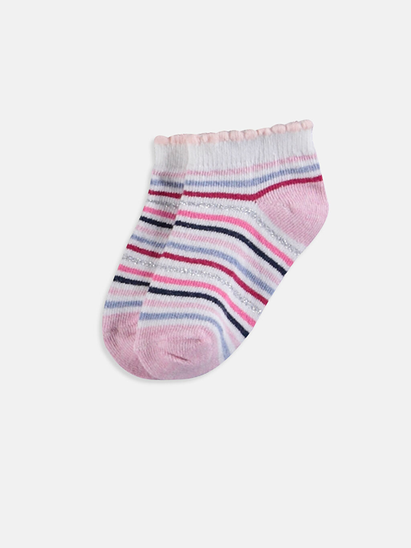 LC Waikiki Çok Renkli Kız Bebek Patik Çorap 4'lü