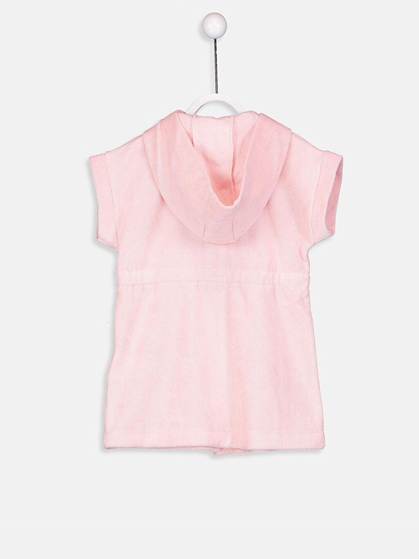 %83 Pamuk %17 Polyester Bikini Üst Havlu Kumaş Kapüşon Yaka Aksesuarsız Standart Kız Bebek Kapüşonlu Bornoz