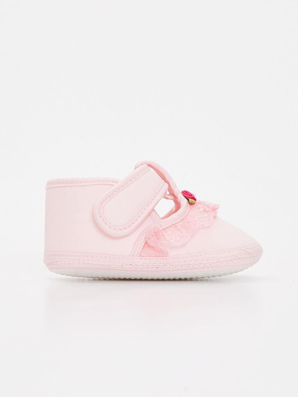 Pembe Kız Bebek Cırt Cırtlı Ayakkabı 9S6283Z1 LC Waikiki