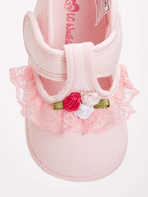 LC Waikiki Pembe Kız Bebek Cırt Cırtlı Ayakkabı