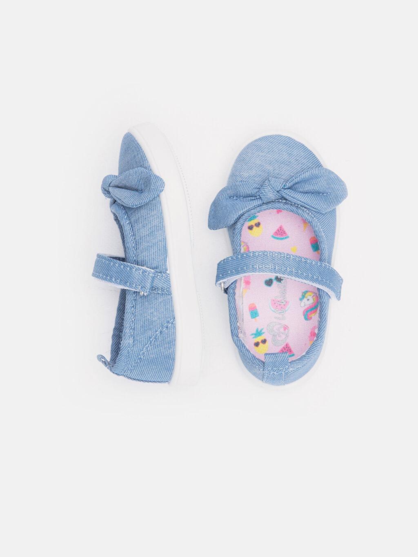 %0 Tekstil malzemeleri (%100 poliester) Kısa Pamuk Astar Babet Kısa(0-2cm) Cırt Cırt Kız Bebek Fiyonklu Babet Ayakkabı