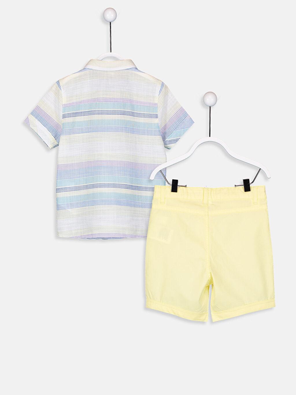 Erkek Bebek Erkek Bebek Kısa Kollu Gömlek Ve Şort