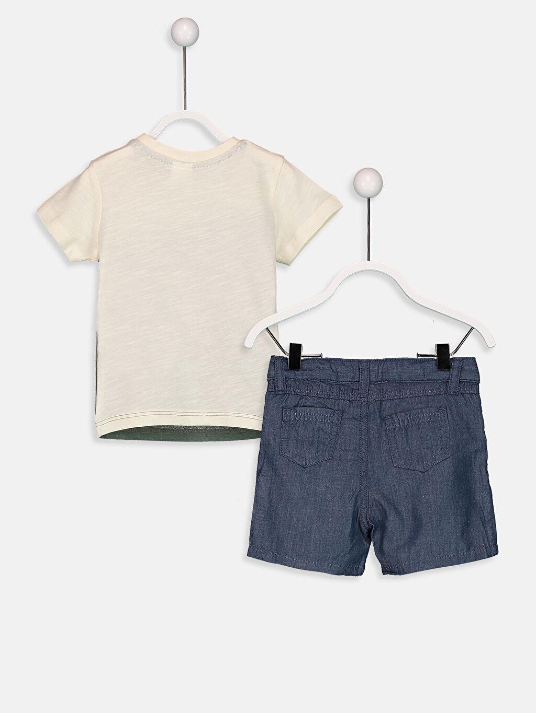 Erkek Bebek Erkek Bebek Baskılı Tişört ve Bermuda Şort