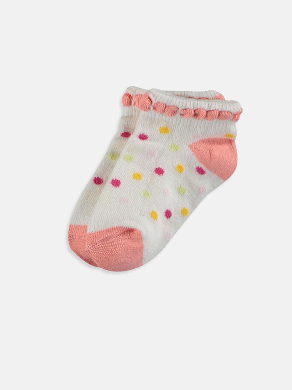 Kız Bebek Desenli Patik Çorap 4'lü