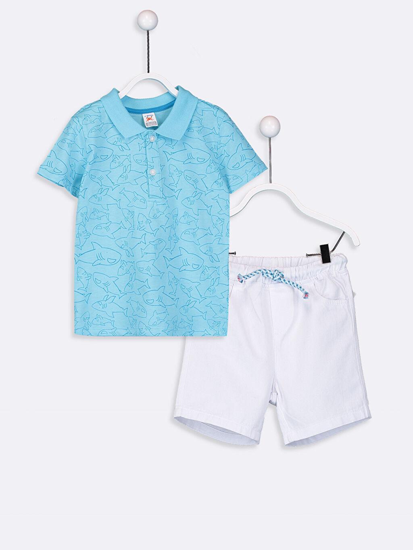 Mavi Erkek Bebek Tişört ve Şort  9SH634Z1 LC Waikiki