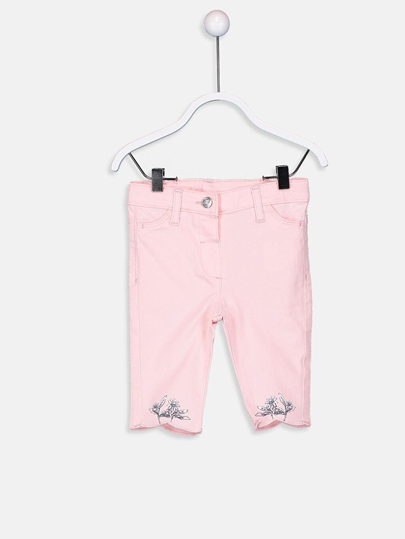 Pembe Kız Bebek Gabardin Pantolon 9SK298Z1 LC Waikiki
