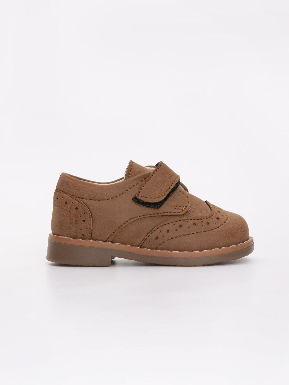 Kahverengi Erkek Bebek Cırt Cırtlı Klasik Ayakkabı 9SK894Z1 LC Waikiki