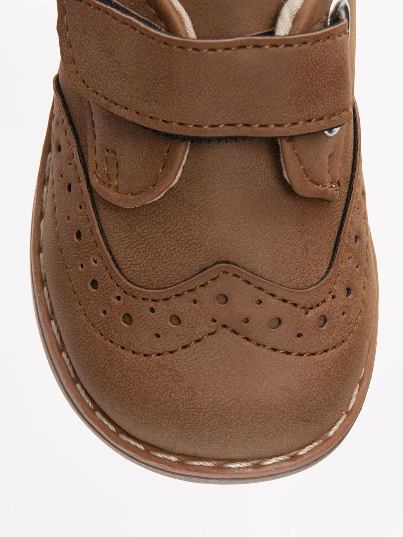 LC Waikiki Kahverengi Erkek Bebek Cırt Cırtlı Klasik Ayakkabı