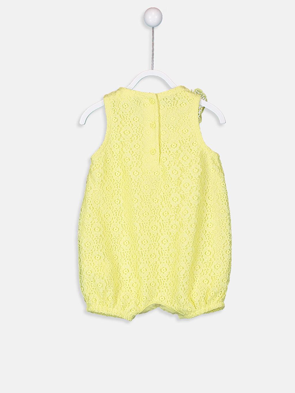 %100 Polyester %100 Pamuk Tulum Kız Bebek Dantelli Tulum