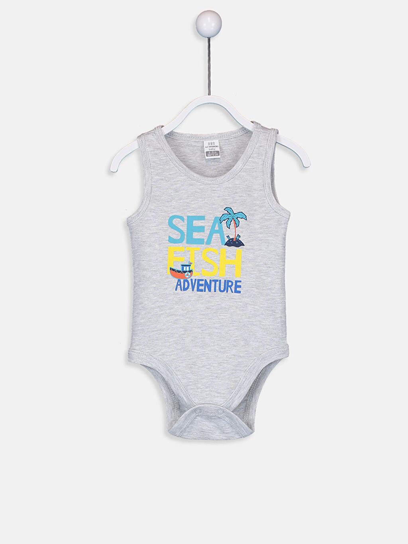 Erkek Bebek Erkek Bebek Pamuklu Baskılı Çıtçıtlı Body 2'li