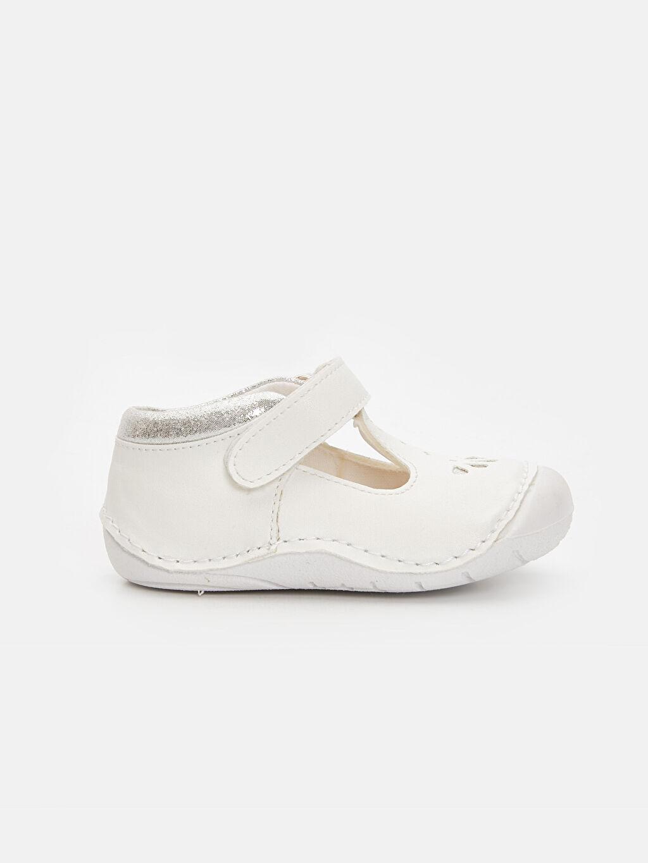 Beyaz Kız Bebek İlk Adım Cırt Cırtlı Ayakkabı 9SN215Z1 LC Waikiki