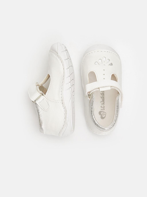 %0 Diğer malzeme (poliüretan)  Kız Bebek İlk Adım Cırt Cırtlı Ayakkabı